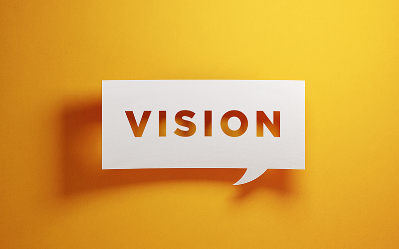 Vision word cutout of paper